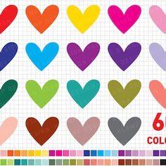 Heart Clipart: Digital Heart Clipart Valentine | Etsy Heart Graphics, Heart Clip Art, Blog Backgrounds, Pink Owl, Commercial Design, Valentine Heart, Digital Scrapbooking, Design Projects, Card Making