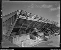 Sievers, Wolfgang, 1913-2007. Exterior of the Olympic pool, Melbourne, 1956 [3] [picture]
