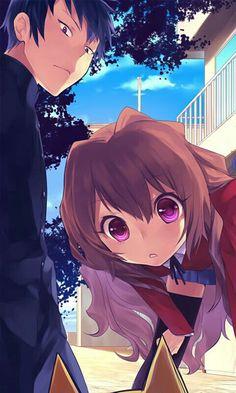 Toradora ♡♡ such a cute anime and I love Taiga-chan *-*