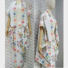Blouse Batik, Batik Dress, Kimono Dress, Kimono Abaya, Kebaya Hijab, Kebaya Dress, Batik Kebaya, Batik Fashion, Hijab Fashion