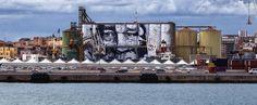 Porto, nuova opera d'artesui silos. «Il voltodiun contadino sul mare» - MeridioNews