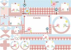 Print Kit Free with birds in pink and blue.