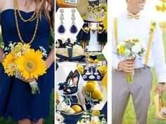 Navy Blue and Yellow - Inspirations for Blue and Yellow Wedding Colors - EverAfterGuide