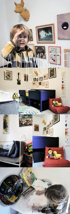 La chambre de Jesse chez Lait Fraise Mag / Jesse's kidsroom