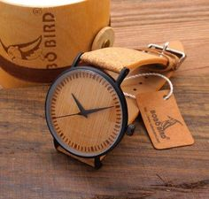 Cheap watch for, Buy Quality watches for men directly from China watch band Suppliers: BOBO BIRD Men's Cool Designer Green Hour Hands Bamboo Wooden Watches Real Leather Bands Watches for Men Wristwatch Bracelets Design, Wooden Watches For Men, Swiss Army Watches, Hand Watch, Watch 2, Leather Watch Bands, Cool Watches, Casual Watches, Wrist Watches
