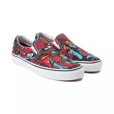 61699c34b0 Find the Slip On Marvel Avengers Spider-Man Skate Shoe from Vans at  Journeys! Marvel Comics edition Vans Slip Ons featuring canvas uppers with  Spider-Man ...