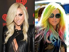 Ke$ha goes super duper bright with rainbow highlights! They fit her unique style... - http://tvnow.us/keha-goes-super-duper-bright-with-rainbow-highlights-they-fit-her-unique-style/