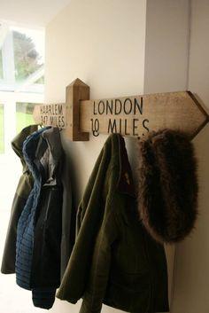 Big Handmade personalised Solid Oak Coat Rack Coat Hanger