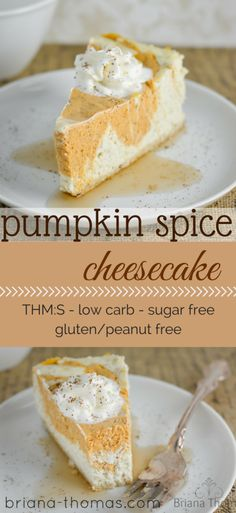 Pumpkin Spice Cheesecake Low Carb THM Sugar Free / Gluten Free