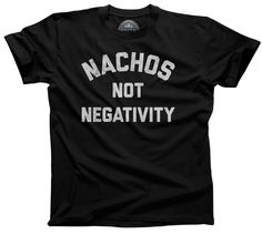 Usher in positive vibes with this funny foodie shirt. Replace bad vibes with guacamole, cheese and chips. Mexican food + good vibes only, please! Shirt Info: - pre-shrunk, baby soft, light weight, rin