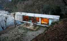A modern house buildt in the Peneda-Geras nationalpark in the north of Portugal