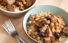 Lamb Stew with Lemon and Olives // This delicious, guest-worthy recipe can be made a day or two ahead and provides a very nourishing meal for your money.