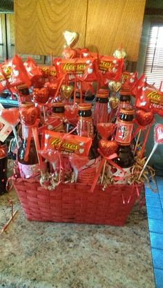 Man bouquet for vday , every woman wants flowers , do why not give your man a something he would love ... A bouquet of beer ;-)