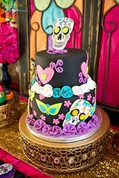 Day of the Dead Party - cake on Michelle's Party Plan-It
