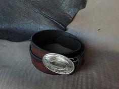 Genuine Leather Cowboy Western Belt Men's belt Women's image 5 Western Belts, Cowboy Western, Saddle Leather, Silver Rings, Image, Jewelry, Belt, Woman, Jewels
