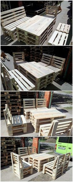 Moving to the next on our list we would talk about the excellent project of the wood pallet in the limelight of outdoor furniture structure. This wood pallet furniture set can stand as best for your house garden. In almost all the parks the settlement of wood pallet furniture concept is considered much as they are unique looking in appearance.