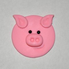 Pig Fondant Cupcake Cake or Cookie Toppers by LadyCupcakesCorner, $16.95