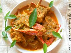 Today we are making another version of crab curry. It is a lighter version of Goan Crab curry with light spices. This Crab Curry is not heavy and the coconut flavor in the curry makes you feel in heaven. My mouth is yet watering just talking about it. This Crab Curry is delicious and will take you to some other world :) .... Eat this Crab Curry with bread, pav or steamed rice. I love to eat crab curry with rice. I eat less rice but more crabs and lick the curry yummmmm.
