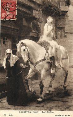Nude Lady Riding Side Saddle on Horse Godiva Vintage Postcard | eBay