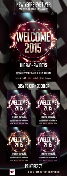 Top 10 Party Flyers Cool and minimal New Year's Eve Flyer, Party Flyer, New Years Eve, Flyers, Color Change, Minimal, Top, Spinning Top, Ruffles