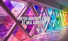 Fresh airport food might be difficult to find at some airports – but not Miami International. Miami is the land..
