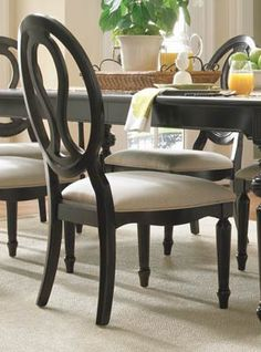 Summer Hill Pierced Back Side Chair (Set of 2) / Midnight Finish