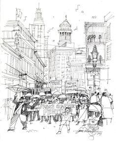 Urban Sketchers: Believe it or Not: It's Carnival Time!