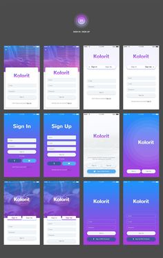 Kolorit Mobile UI Kit by Web Donut on Creative Market - Design Android App Design, Ios App Design, Android Ui, Mobile Ui Design, App Design Inspiration, Ui Kit, Application Ui Design, Conception D'interface, Mise En Page Web