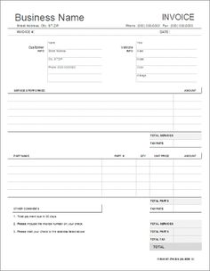 7 best printable quotation template images on pinterest invoice