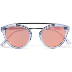 Westward Leaning x Olivia Palermo Flower 14 aviator-style acetate and... (8 325 UAH) via Polyvore featuring accessories, eyewear, sunglasses, glasses, blue, blue mirrored sunglasses, clear sunglasses, blue mirror sunglasses, blue aviators и flower sunglasses