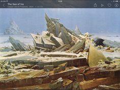 """6. Friedrich. El mar glaciar. Una interpretación de """"naufragio en el mar báltico""""."""