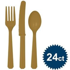 Check Out Gold Cutlery Set