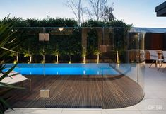 Designed by OFTB landscape architects the armadale project includes a plunge pool with cascading water wall, an outdoor entertaining terrace and built in electrolux bbq in polished concrete benchtop.