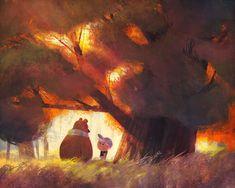 Brandon James, James Scott, Forest Illustration, Children's Book Illustration, Illustrations, Illustration Styles, Concept Art World, My Fantasy World, Character Design Animation