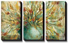 Grande Bouquet Canvas Art Set by Wani Pasion at Art.com