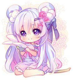 [+Video] Commission - Flower Buddy by Hyanna-Natsu on DeviantArt Dibujos Anime Chibi, Cute Anime Chibi, Kawaii Chibi, Kawaii Art, Kawaii Anime Girl, Cartoon Kunst, Anime Kunst, Cartoon Art, Anime Art