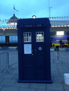 Unveiling of replica #TARDIS by Mrs Joan Coburn-Moon in recognition of #DoctorWho's first writer - #HerneBay resident Anthony Coburn - @Anthony_Coburn http://youtu.be/k4pJgcntN9c