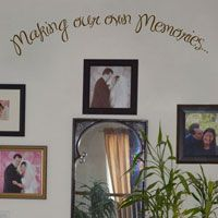 Making our own Memories - Quote - Family - Love - Wall Decals  dalidecals.com