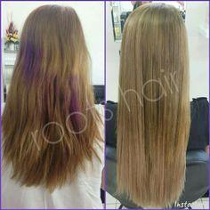 Colour correction and tape hair extensions www.bundaberghairdresser.com.au