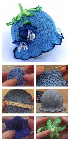 How to Crochet Bluebell Baby Hat These Crochet Baby Bluebell Hats are just adorable. I shared some links below with some free and paid patterns how to crochet them. Sombrero A Crochet, Crochet Baby Beanie, Crochet Kids Hats, Cute Crochet, Beautiful Crochet, Crochet Crafts, Easy Crochet, Crochet Projects, Knitted Hats