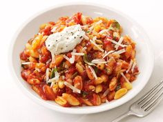 Get Cavatelli With Tomato Sauce and Ricotta Recipe from Food Network