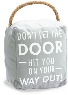 Open Door Decor - Don't Let the Door Hit you on your Way Out! Gray Decorative Door Stopper Shelf Decor