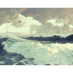 too much art - Frederick Judd Waugh, The Ocean, 1929.