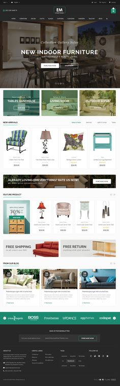 Everthing is premium #Magento theme with advanced admin module. Its extremely customizable, easy to use and fully responsive. #furniture #decor #store