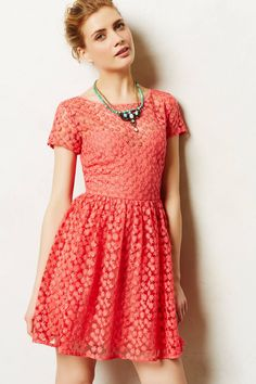 Stitched Blossom Dress - Anthropologie. WIsh this dress would be in stock again. LOVE IT SO.