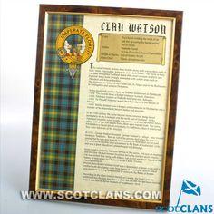 Watson Clan History