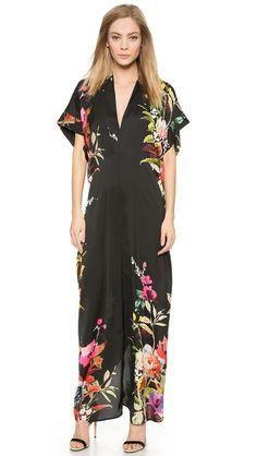 Mason by Michelle Mason Kimono Maxi Dress