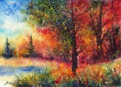 "Anna Armona - Artist from Ukraine (""Autumn Evening"")"