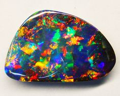 """Gem quality Queensland Boulder Opal. for some reason, this rock reminds me of """"Babes in Toyland"""""""