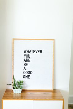 Inspirational white letterboard | Four Chairs Furniture